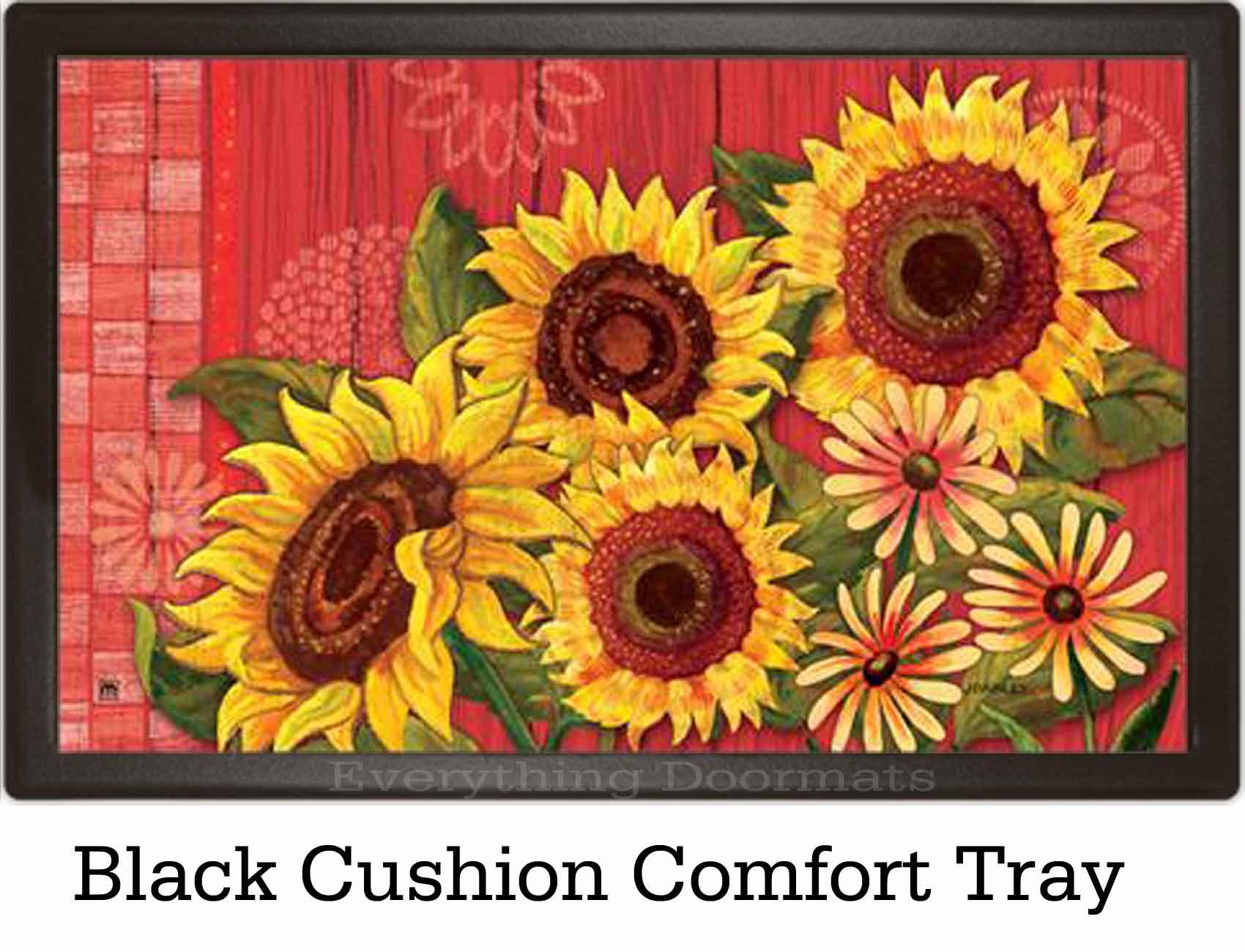 indoor u0026 outdoor red barn sunflower matmate