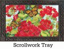 Indoor & Outdoor Red Geranium MatMate Doormat-18x30
