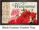 Indoor & Outdoor Red Geraniums Insert Doormat – 18x30