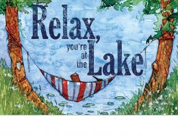 Indoor & Outdoor Relax at the Lake Insert Doormat-18x30