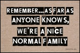 Normal Family Doormat - 19x30 Funny