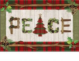 Indoor & Outdoor Rustic Christmas MatMate Doormat-18x30