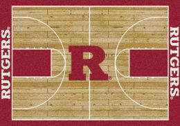 Rutgers Scarlet knights Basketball Home Court Nylon Area Rug
