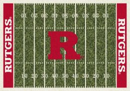 Rutgers Scarlet Knights Home Field Area Rug - Football Logo