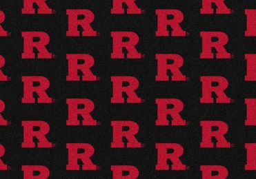 Rutgers Scarlet knights Repeat Logo Area Rug - College Mat