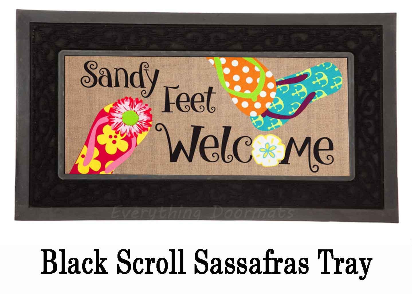 Sassafras Sandy Feet Mat 10 X 22 Insert Doormat