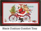 Indoor & Outdoor Santa Cycle MatMate Doormat-18x30