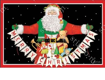 Indoor & Outdoor Santa Greetings MatMate Doormat-18x30