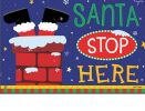 Indoor & Outdoor Santa Stop Here MatMate Doormat-18x30