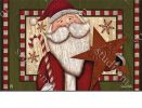Indoor & Outdoor Santa with Star MatMate Doormat-18x30