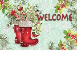 Indoor & Outdoor Santa's Boots Insert Doormat - 18x30