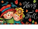 Indoor & Outdoor Scarecrow Pair Insert Doormat - 18x30