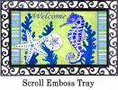 Indoor & Outdoor Seahorse Welcome Insert Doormat - 18 x 30