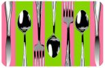 FoFlor Silverware Pink Stripe Mat - Doormat or Runner