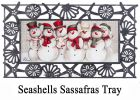 Sassafras Snow Friends Mat - 10 x 22 Insert Doormat