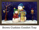 Indoor & Outdoor Snow Happy  Insert Doormat - 18x30