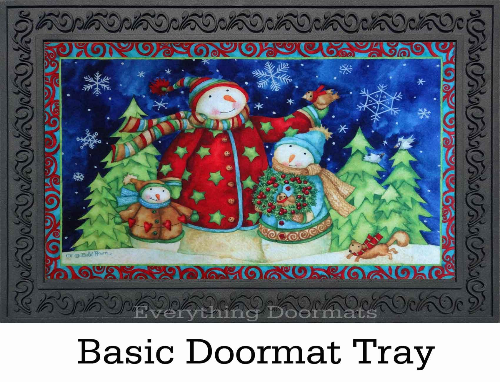 Indoor Amp Outdoor Snowman Family Insert Doormat 18 Quot X 30 Quot