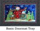 "Indoor & Outdoor Snowman Family Insert Doormat - 18"" x 30"""