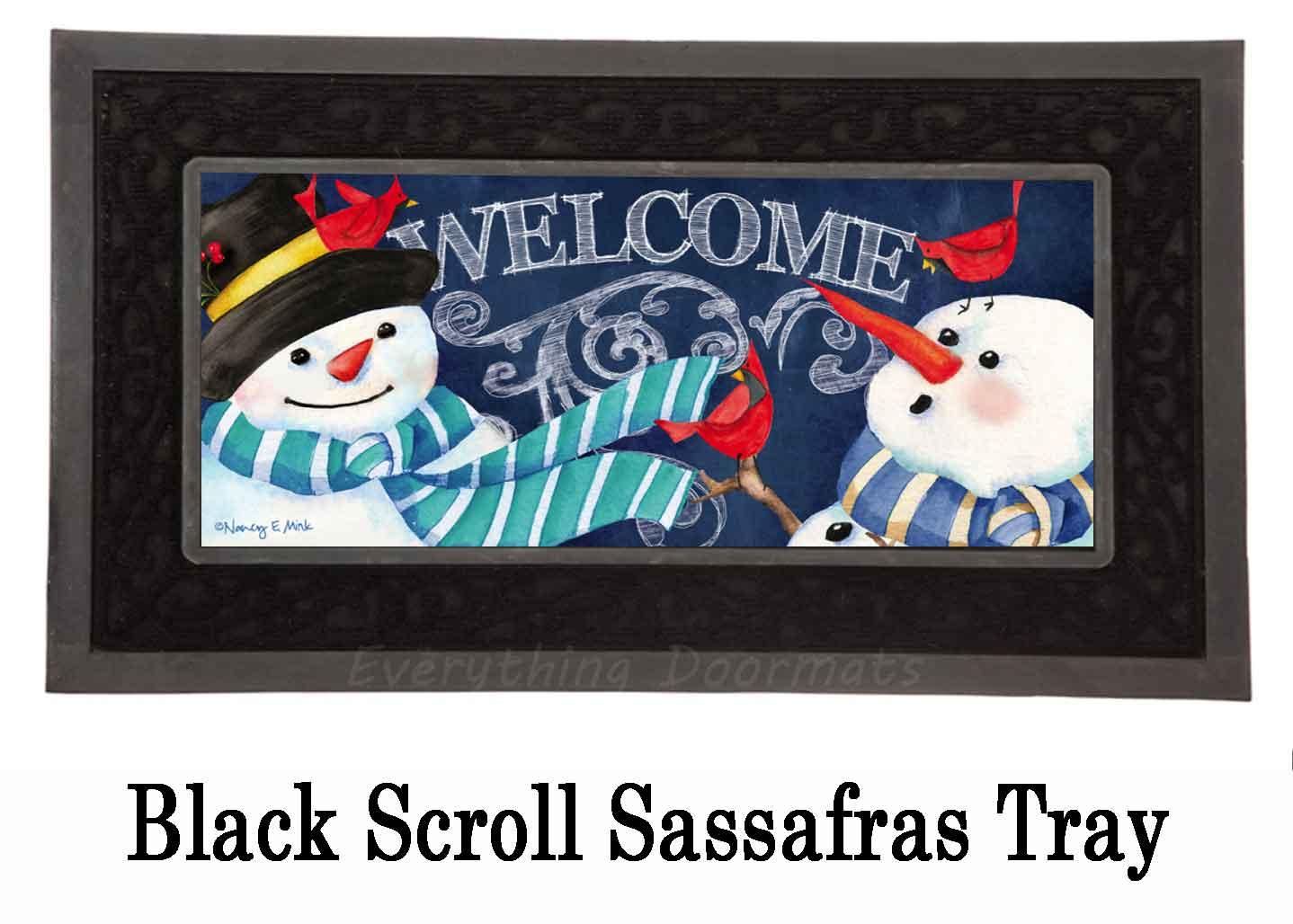 Sassafras Snowman Welcome Switch Doormat 10 X 22
