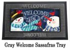 Sassafras Snowman Welcome Switch Doormat - 10 x 22