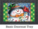 "Indoor & Outdoor Snowman's Friend Insert Doormat - 18"" x 30"""