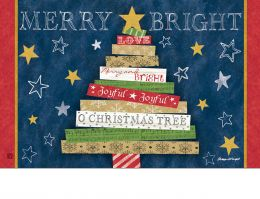 Indoor & Outdoor Songs of Christmas MatMate Doormat-18x30