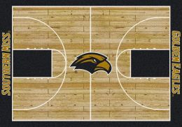Southern Mississippi Golden Eagles Basketball Home Court Area Rug