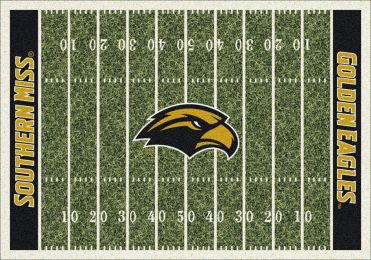 Southern Mississippi Golden Eagles Football Home Field Area Rug
