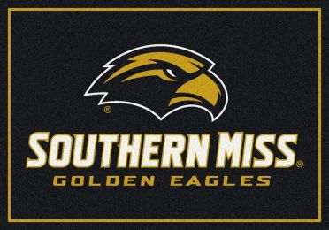Southern Mississippi Golden Eagles College Spirit Logo Area Rug