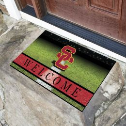 Southern California University Flocked Rubber Doormat - 18 x 30