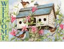 Indoor & Outdoor Spring Birdhouse MatMate Doormat - 18x30