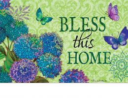 Indoor & Outdoor Spring Bless This Home Insert Doormat