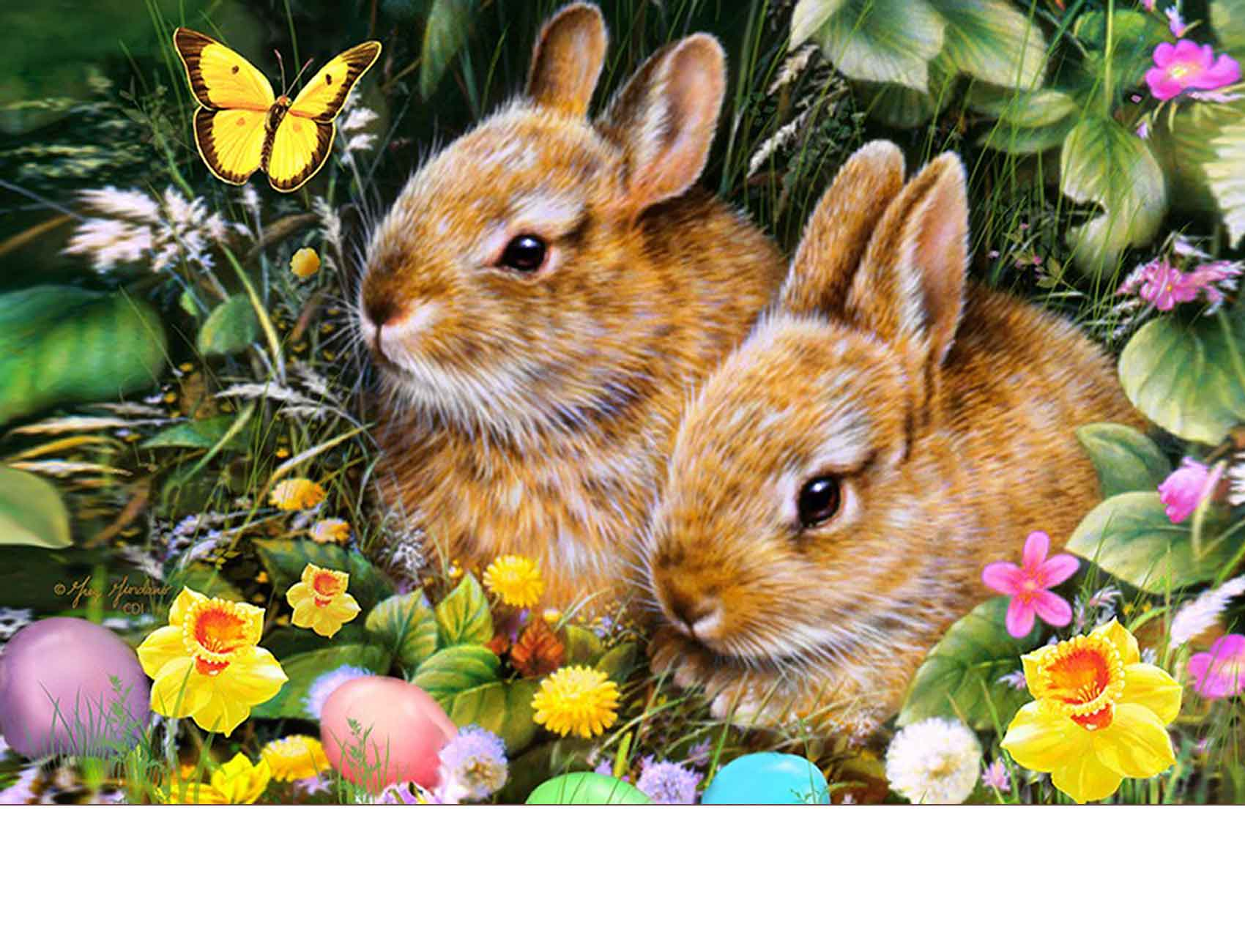 Indoor Amp Outdoor Spring Bunnies Insert Doormat 18 X 30