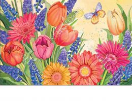 Indoor & Outdoor Spring Burst MatMate Doormat-18x30