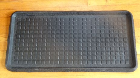 Square Dot Embossed Natural Rubber Boot Tray - 32 x 16 x 1