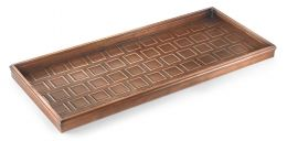 Embossed Squares Copper Finished Boot Tray - 34 x 14 x 2.5