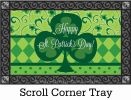 Indoor & Outdoor St Pat's Clover Insert Doormat-18x30