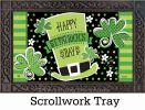 Indoor & Outdoor St Pat's Shamrocks MatMate Doormat-18x30