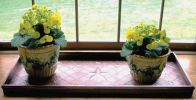Embossed Stars Copper Finished Boot Tray - 34 x 14 x 2.5