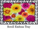Floral Embossed Summer Flowers Doormat - 19 x 30