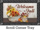 Indoor & Outdoor Sunflowers & Cotton Insert Doormat - 18x30