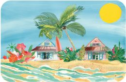 FoFlor Surf Shack Mat by Liz Lind - Doormat 24 x 36