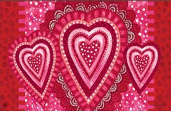 Sweet Hearts Indoor & Outdoor MatMate Doormat - 18 x 30