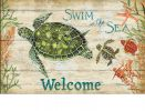 Indoor & Outdoor Swim in the Sea MatMate Doormat - 18x30