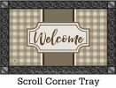 Tan Check Welcome Indoor & Outdoor MatMate Doormat - 18x30