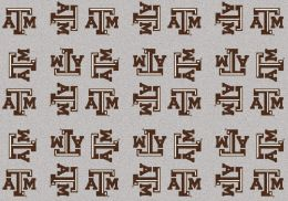 Texas A&M Aggies Repeat Logo Area Rug - College Mat