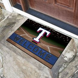 Texas Rangers Flocked Rubber Doormat - 18 x 30