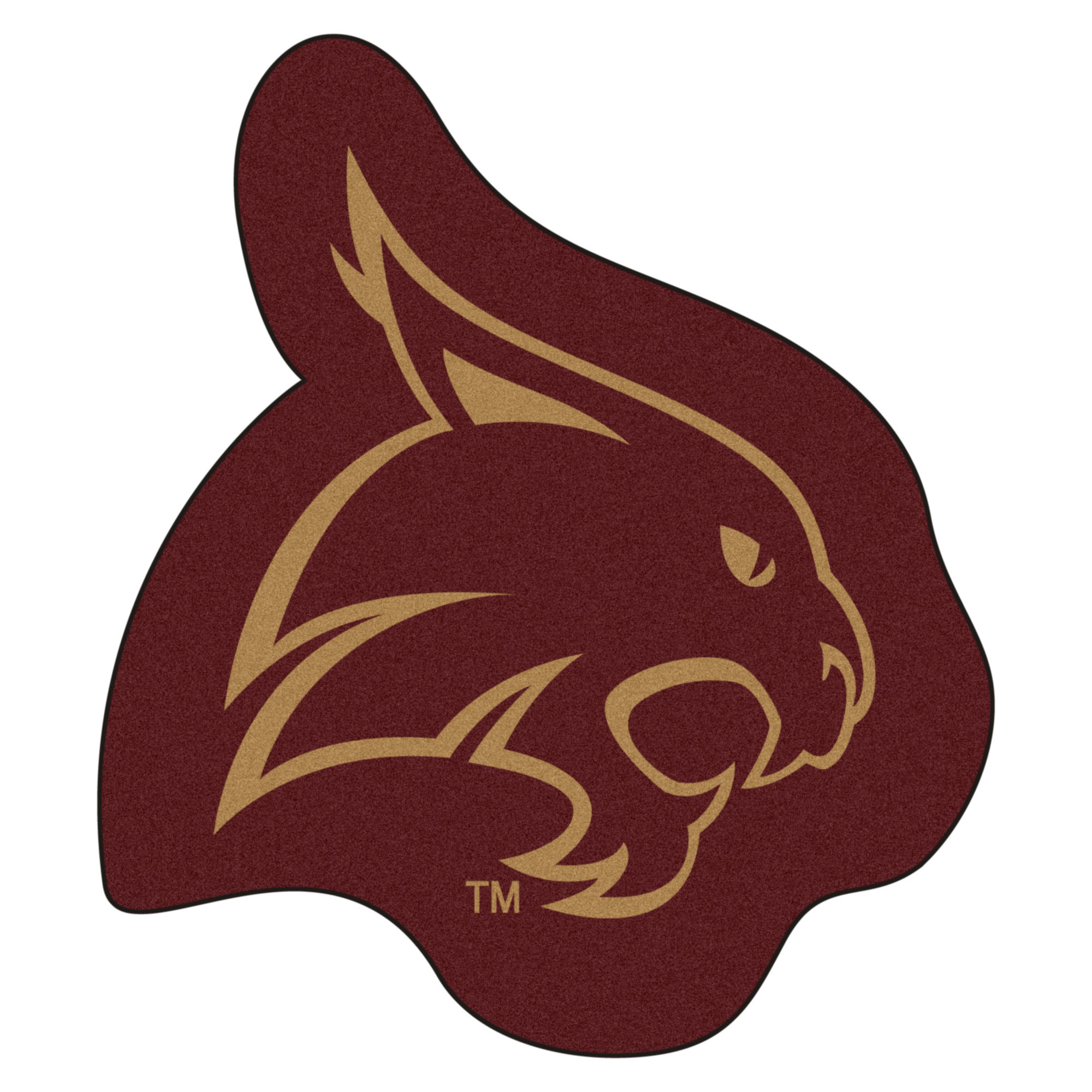 Texas State University Bobcats Mascot Area Rug Nylon