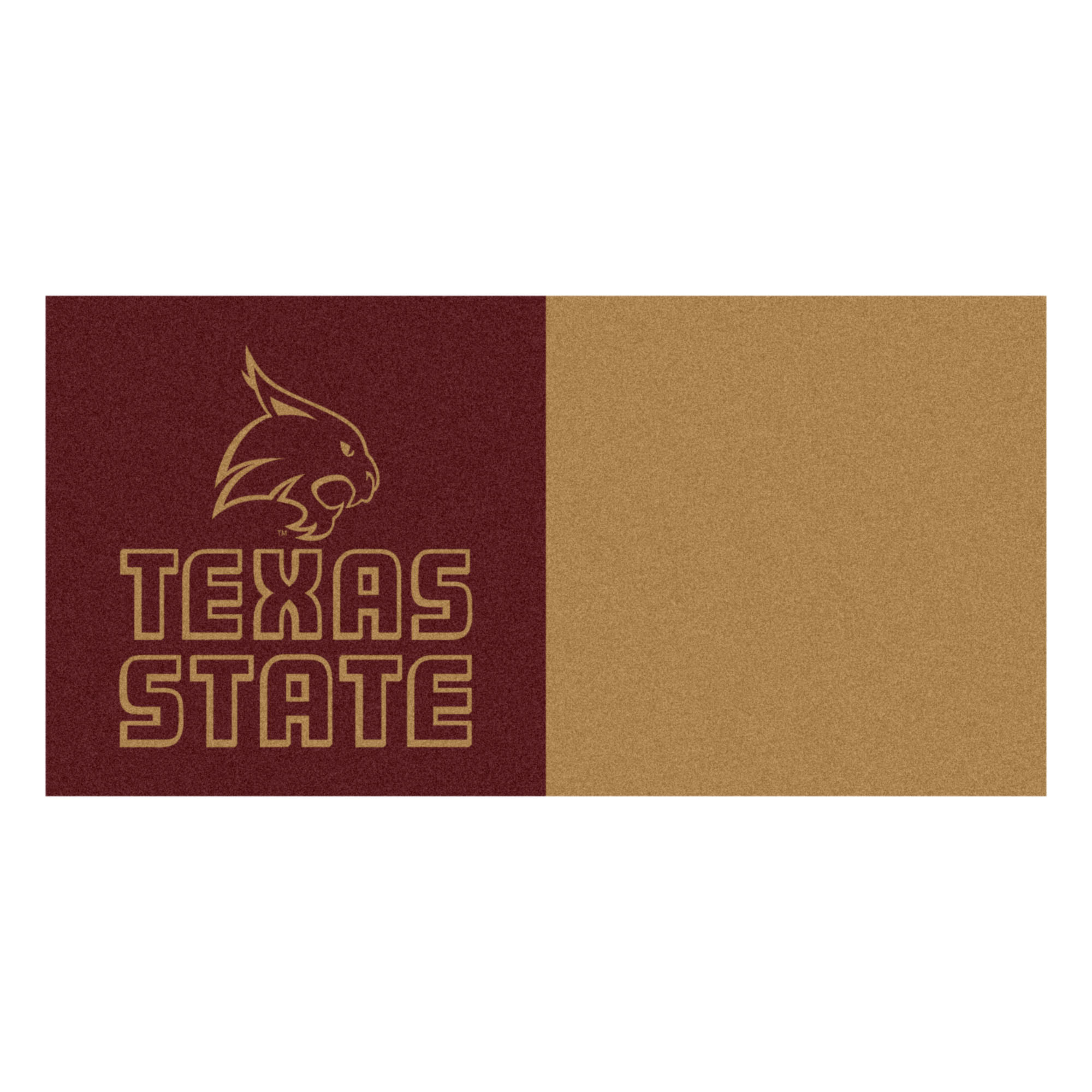 Texas State University Bobcats Team Carpet Tiles 45 Sq Ft