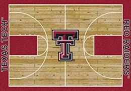 TTU Red Raiders Basketball Home Court Nylon Area Rug